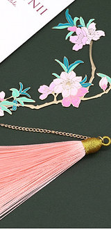 Peach Blossom Bookmark