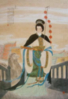 Picture of the First Female Diplomat Feng Liao of the Han Dynasty, Painted By Artist Liu Fufang.