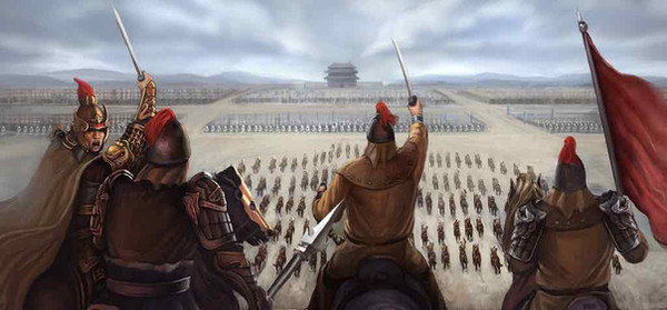 General Yu Qian of Ming Dynasty in History of China Training Army