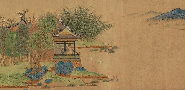 Great Calligrapher Wang Xizhi (303 — 361) Watching Geese, by Artist Qian Xuan (about 1239 — 1299)