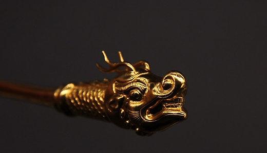 Engraving Dragon Head Hair Ornament Zan