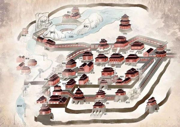 Restored Map of Jianzhang Palace