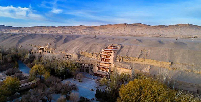 Mogao Caves in Dunhuang of Gansu Province