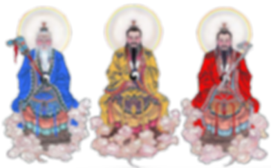 Three most honorable immortals of Taoism Religion