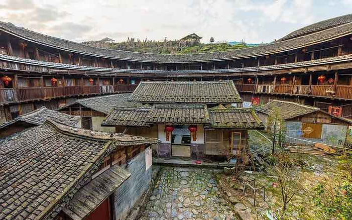 Tulou Building of in Southeast China the Fujian Province