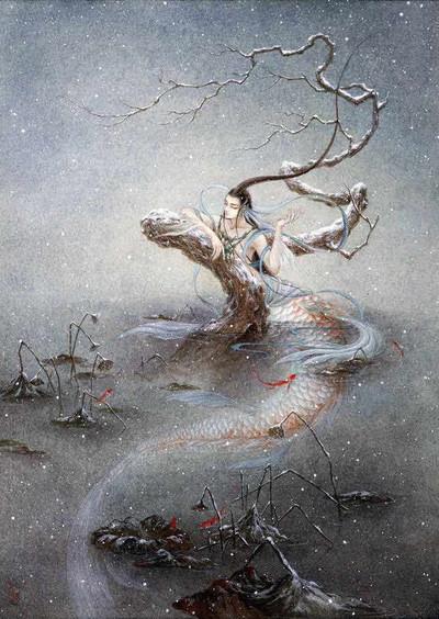 Mythical half-human-half-fish Jiao Ren Produced by Artist Shan Ze or Li Yifan or VIKI LEE
