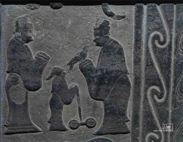 Stone Relief of the Han Dynasty (202 BC – 220 AD), Portrayed Confucius' Consulting to Great Philosopher Lao Zi