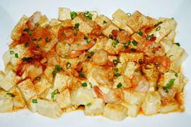 Fried Tofu and Shrimp