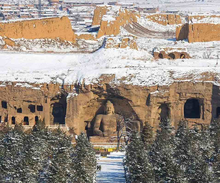 Yungang Grottoes in Datong of Shanxi Province