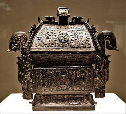 Bronze Alcohol Vessel (Li Fang Yi) of the Zhou Dynasty