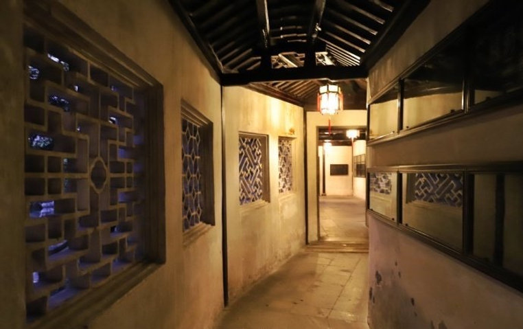Lanterns in Exquisite Corridor of Humble Administrator's Garden