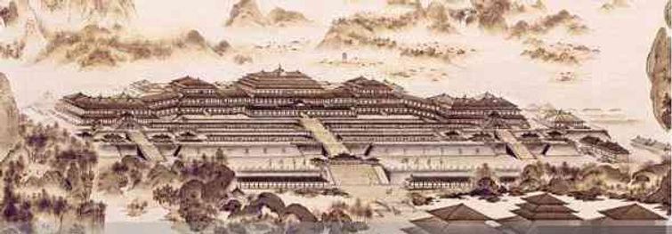 Restoration Map of Royal Palace of the Qin Dynasty, the Epang Palace.