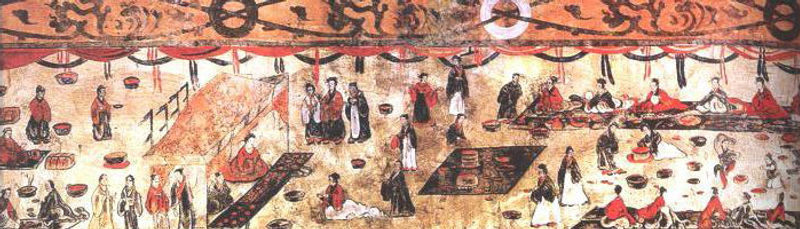 Grave Mural of Eastern Han Dynasty (25 — 220) 7.3 m × 0.7m