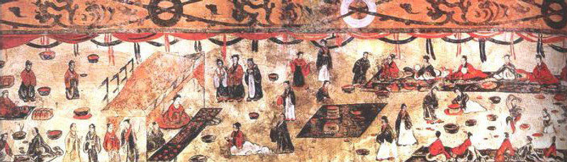 Grave Mural of Eastern Han Dynasty (25 — 220) 7.3 m × 0.7m