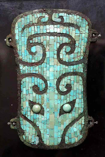 Bronze Artifact Decorated with Turquoise Unearthed From Erlitou Site, A Possible Relic Site of Part of the Xia Dynasty
