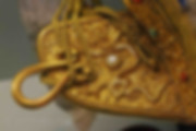 Gold Saddle of Shunzhi Emperor that Decorated with Dragon Patterns and Gems
