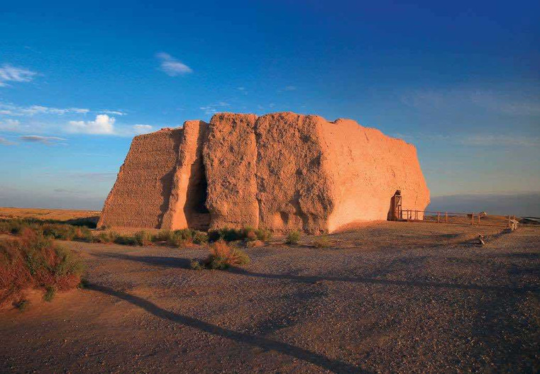Remains of Jade Gate Pass or Yumen Pass or Xiaofangpan City in Dunhuang.