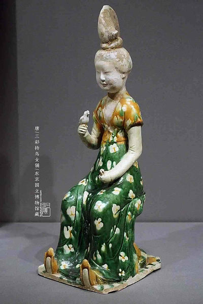 Tri-coloured Glazed Pottery (Tang San Cai) of the Tang Dynasty