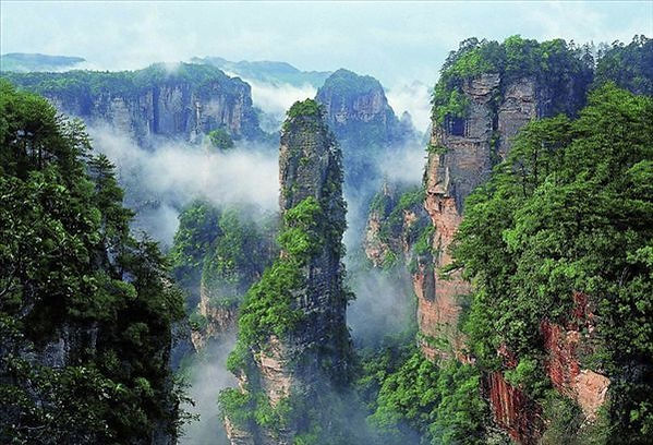 Pillar of Southern Heaven the Prototype of Avatar Floating Mountain in Zhangjiajie National Forest Park