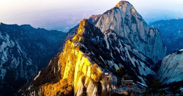 Ancient Taoist Temples on the Mount Hua of the Shaanxi Province