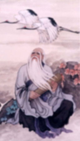 Lao Tzu immersing in the nature