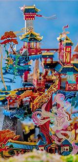Qingqiu Fox House 3D Metal Puzzle Model