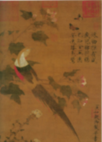 Chinese Realistic Painting Work of Emperor Zhao Ji of Song Dynasty