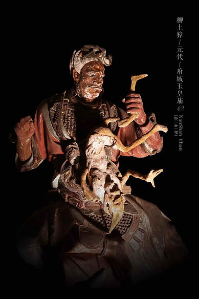 Painted Sculpture of Willow Earth Water-Deer Deity of Yuan Dynasty — Jade Emperor Temple