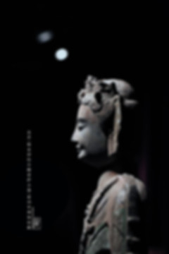 Painted Stone Buddha Statue of Northern Qi Dynasty