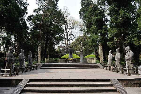 Tombs of General Yue Fei and His First Son Yue Yun, Inside Yue Fei's Memorial Temple Next to the West Lake