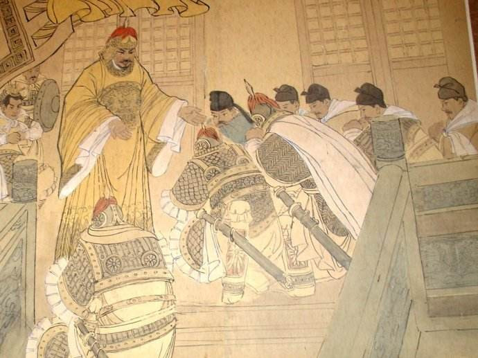 Emperor Zhao Kuangyin of Song Dynasty  in yellow dragon robe in history of China