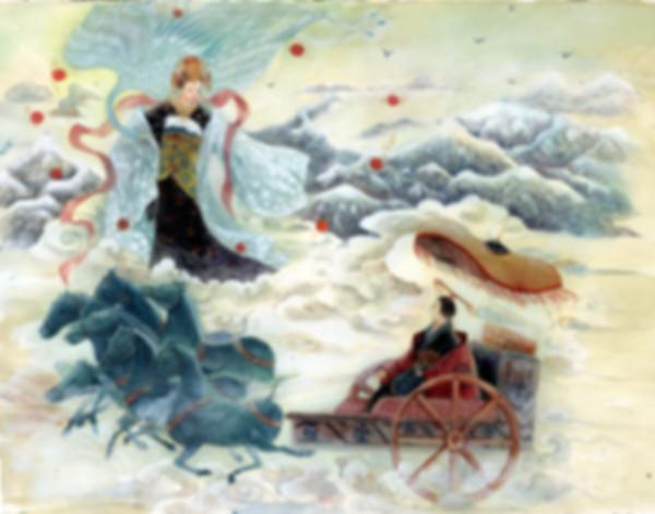 Celestial Xi Wangmu from Mount Kunlun and King of Zhou Dynasty Ji Man