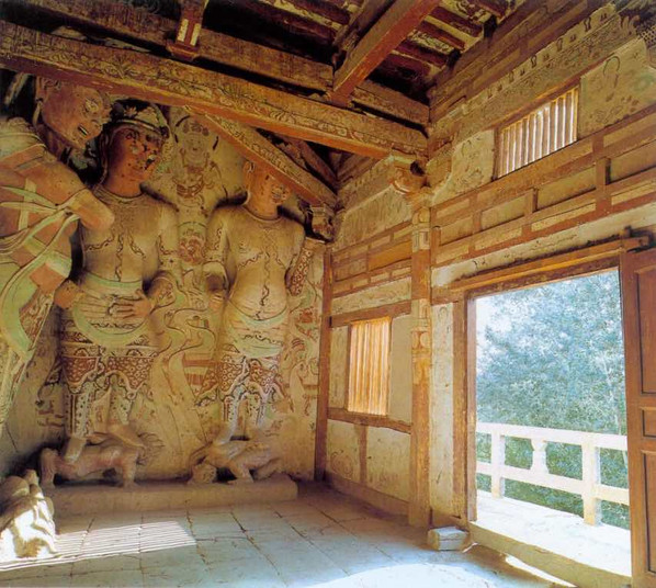 Sculptures and Murals in The 427th Cave of Mogao Grottoes (581 — 618).