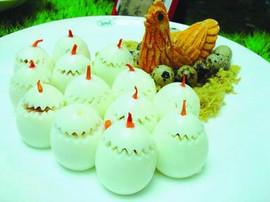 Egg Stuffed with Chicken & Prok & Shrimp