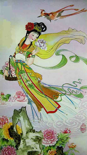 Chinese Flower Goddess of Peony