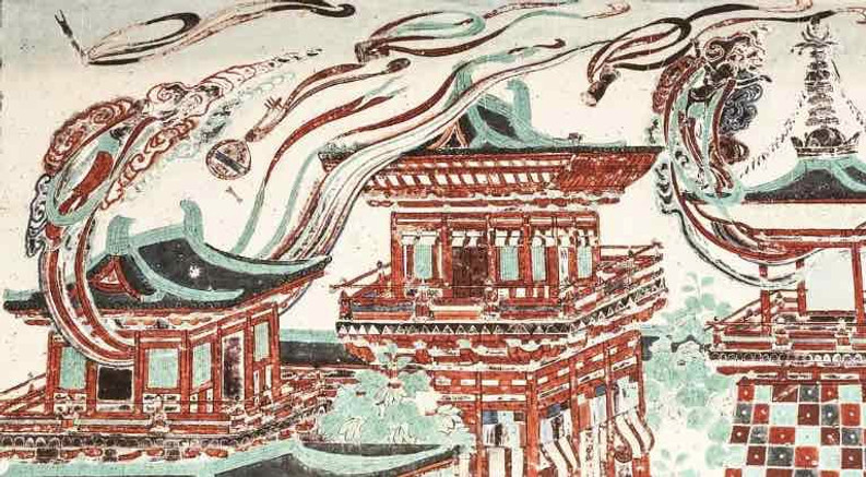Portion of Dunhuang Mural of Mogao Grottoes (around 618 — 907)