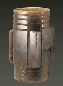 Jade Artifact (Yu Zong) used in Grand Sacrificial Ceremony