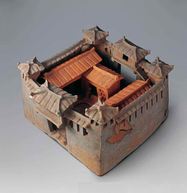 Unearthed Pottery Houses (Wu Bao) of the Late Han Dynasty, Modeled by Castles of Strong Clans with Private Troops — National Museum of China