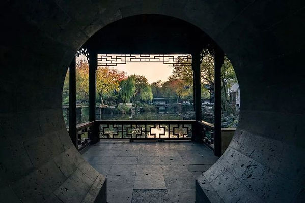 Enframed Scenery or Kuangjing in Humble Administrator's Garden, a traditional skill of classical Chinese Garden