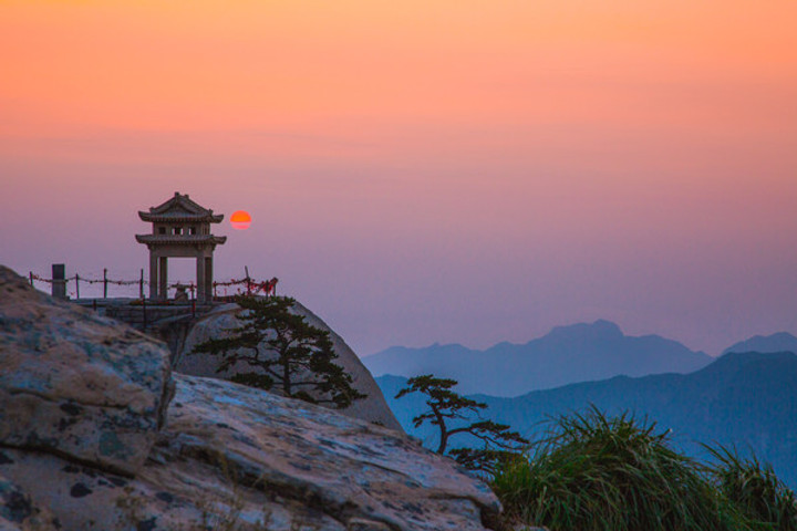 Sunset View of Mount Hua