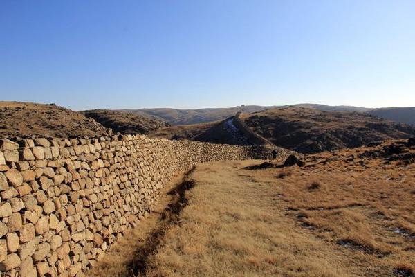 Ruins of the Qin Great Wall in City Guyang
