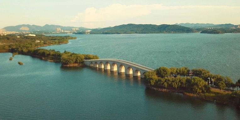 Jiukong Bridge on Qianmuhu of Dongting Lake