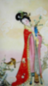 Fairy of Winter Sweet in December of Chinese Calendar