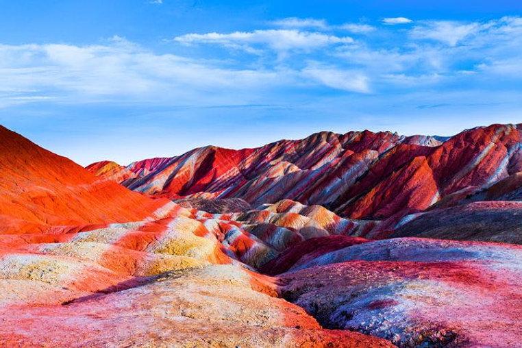 Colorful Danxia Landform in Zhangye City of Gansu Province