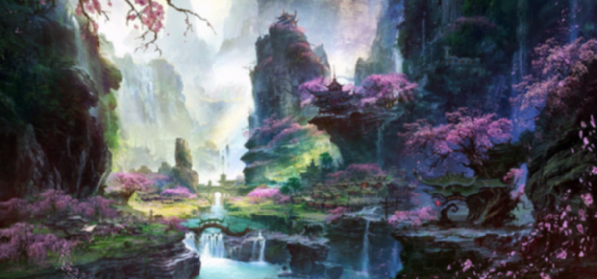 Chinese fantasy and mysterious land