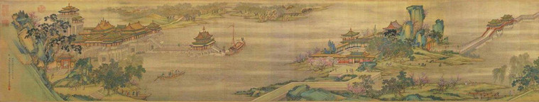Part of the Painting (Qingming Shang He Tu) Along the River During the Qingming Festival of the Song Dynasty