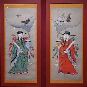 New Year Picture of Door Gods in the Forbidden City