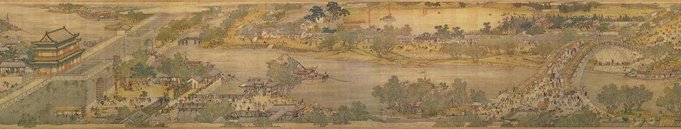 Part of the Genre Painting of the Capital City (Bianjing or Kaifeng) of the Song Dynastyby Artist Zhang Zeduan