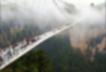 Zhangjiajie Glass Bridge -- The Longest (430 meter) and Tallest (300 meter) Glass Skywalk in World