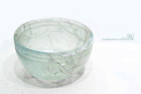 Unearthed Glass Bowl of the Han Dynasty
